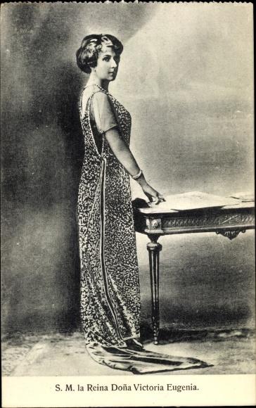 Ak Victoria Eugénie von Battenberg, Königin von Spanien, Ehefrau von Alfons XIII