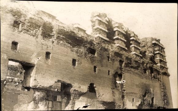 Foto Ak Smyrna Izmir Türkei, Ruinen der antiken Stadt Pergamon, Bergama
