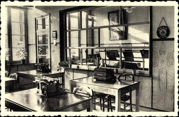 Ak Herk de Stad Flandern Limburg, Sint Ursula Instituut, Stenographierzimmer, Schreibmaschinen