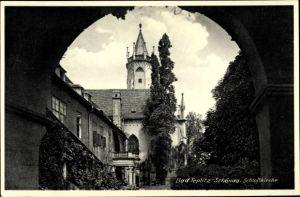 Ak Teplice Teplitz Schönau Reg. Aussig, Blick auf die Schlosskirche