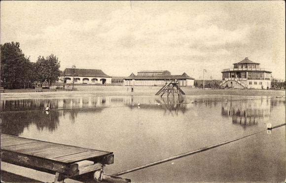 Ak Ebersbach Neugersdorf Städtisches Neues Volksbad Inh Erhard