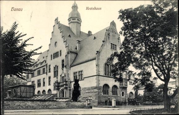 Ak Hanau im Main Kinzig Kreis Hessen, Kreishaus, Außenansicht