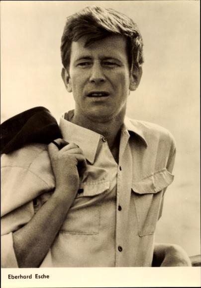 Ak Schauspieler Eberhard Esche, Portrait, DEFA Film, Mord am Montag