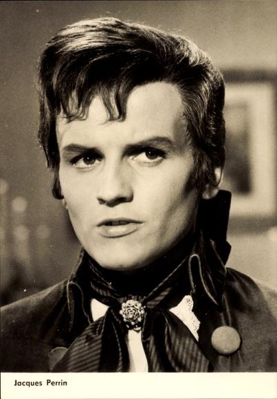 Ak Schauspieler Jacques Perrin, Portrait, Rote Rosen für Angelika