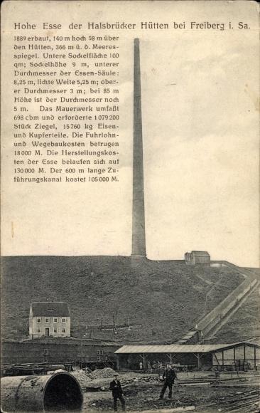 Ak Halsbrücke in Sachsen, Blick auf die Hohe Esse