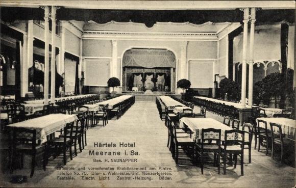 Ak Meerane in Sachsen, Härtels Hotel, Bes. H. Naunapper, Innenansicht