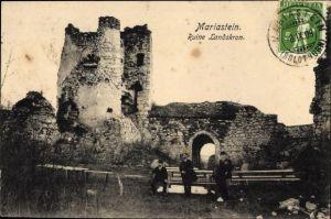 Ak Metzerlen Mariastein Kt. Solothurn Schweiz, Ruine Landskron