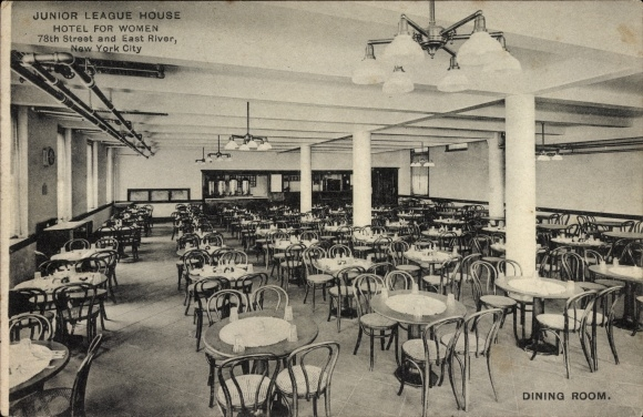 Ak New York City USA, Junior League House, Hotel for Women, 78th Street and East River, Dining Room