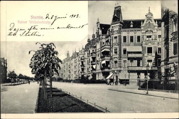 Ak Szczecin Stettin Pommern, Kaiser Wilhelm Straße, Geschäft Paul Arndt