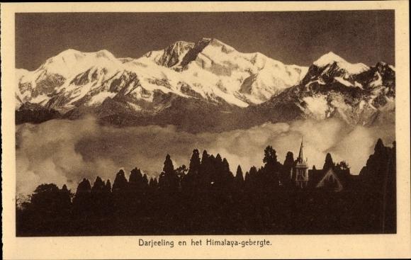 Ak Darjeeling Indien, En het Himalaya gebergte, Himalaya Gebirge