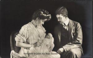 Ak Hertigparet af Skane med Prins Sigvard, Kronprinz Gustav Adolf, Margaret of Connaught