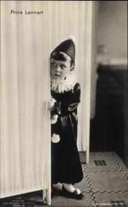 Ak Prins Lennart, Prinz Lennart von Schweden, Harlekinskostüm