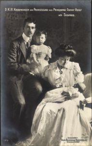 Ak Gustav Adolf VI. von Schweden, Margaret of Connaught, Prinzen, Kronprinzenpaar