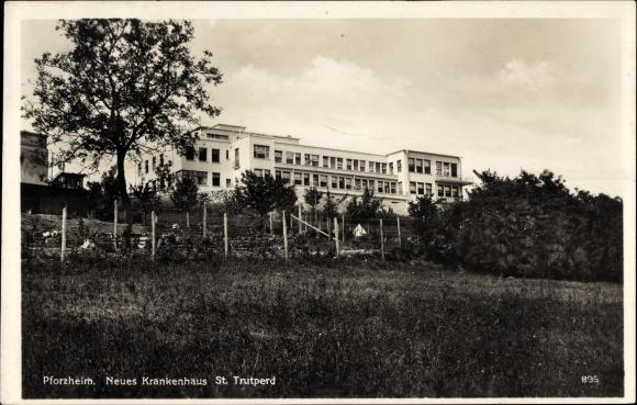 Ak Pforzheim im Schwarzwald Baden Württemberg, Blick auf neues Krankenhaus St. Trutperd