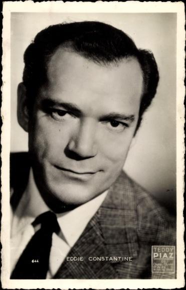 Ak Schauspieler und Sänger Eddie Constantine, Portrait