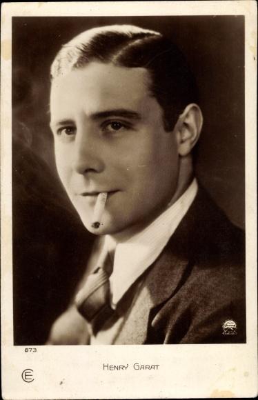Ak Schauspieler Henry Garat, Portrait, Zigarette rauchend