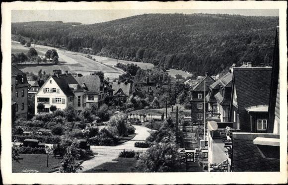 Ak Oberschlema Bad Schlema im Erzgebirge Sachsen, Blick zu den Hindenburganlagen
