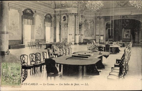 Ak Monte Carlo Monaco, Le Casino, Les Salles de Jeux, Spielsaal im Kasino, LL.