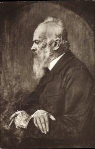 Künstler Ak Firle, Walther, Prinzregent Luitpold von Bayern, Portrait, Trauerkarte zum 12.12.1912