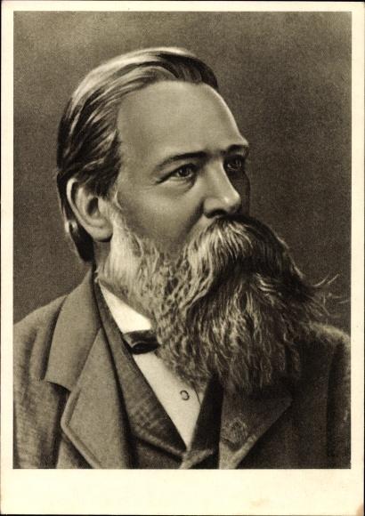 Künstler Ak Friedrich Engels, Philosoph und Gesellschaftstheoretiker, Portrait, Marxismus