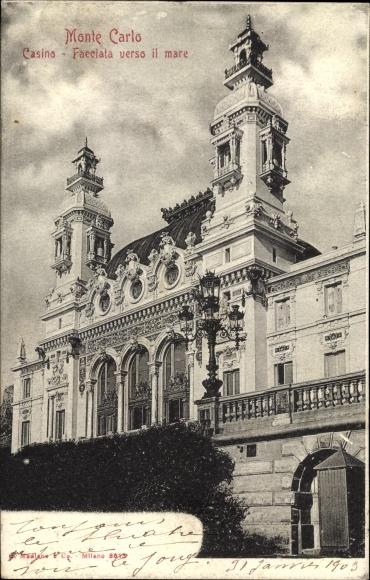 Ak Monte Carlo Monaco, Casino, Facciata verso il mare