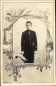 Passepartout Ak Alphonse XIII, Roi de Espagne, König Alfons XIII von Spanien