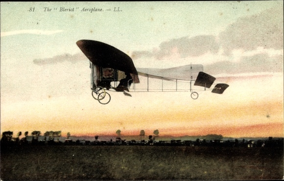 Ak The Blériot Aeroplane, Monoplan, Flugzeug, Flugpionier