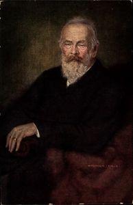 Künstler Ak Firle, Walther, Prinzregent Luitpold von Bayern, Portrait in einem Sessel sitzend