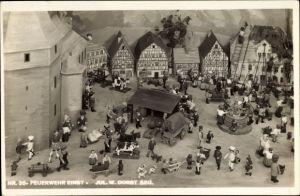 Ak Sonneberg in Thüringen, Spielzeugschau, Das Deutsche Märchen 1935, Feuerwehr einst, Jul. W. Dorst