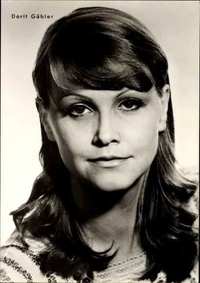 Ak Schauspielerin Dorit Gäbler, Portrait, Nicht schummmeln Liebling