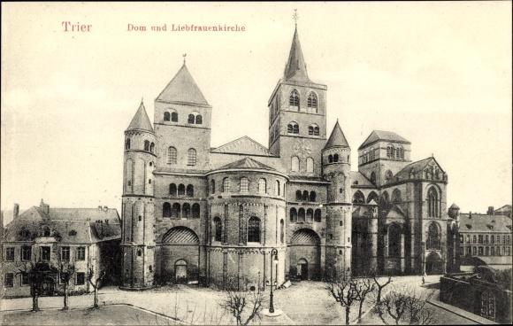 Ak Trier in Rheinland Pfalz, Blick auf Dom und Liebfrauenkirche
