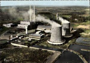 Ak Dechy Sin le Noble Nord, La Centrale, Fliegeraufnahme des Kraftwerkes