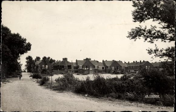 Ak Bray Dunes Nord, Les villas dans les dunes, Teilansicht der Stadt