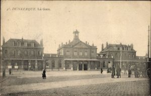 Ak Dunkerque Nord, La Gare, Blick auf den Bahnhof, Vorderansicht