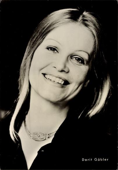 Ak Schauspielerin Dorit Gäbler, Portrait, Nicht schummeln Liebling