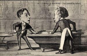 Künstler Ak L'Oeuvre de Honoré Daumier, Les joueurs de billard