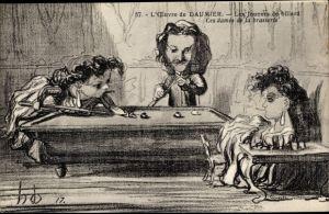 Künstler Ak L'Oeuvre de Honoré Daumier, Les joueurs de billard, Ces dames de la brasserie