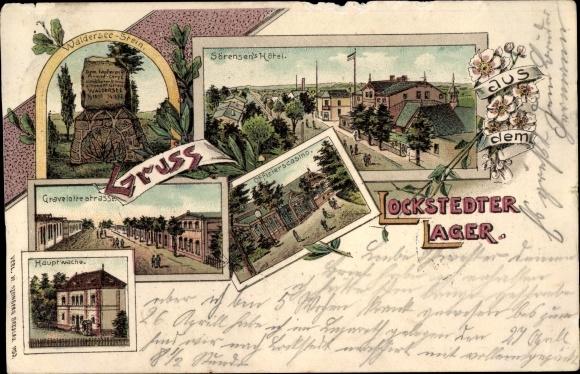 Litho Lockstedt, Lockstedter Lager, Sörensen's Hotel, Gravelottestraße, Walderseestein, Kasino