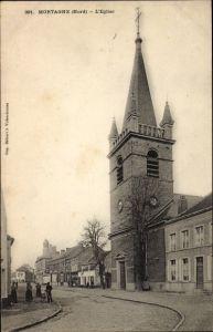 Ak Mortagne Nord, L'Église, Ansicht der Kirche