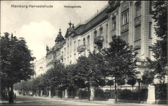 Ak Hamburg Eimsbüttel Harvestehude, Hartungstraße, Wohngebäude