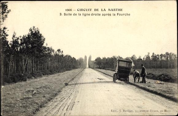 Ak Circuit de la Sarthe, Suite de la ligne droite après la fourche