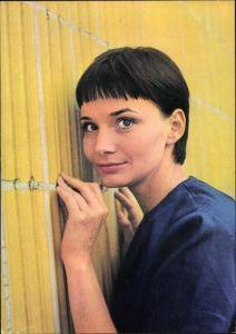 Ak Schauspielerin Anna Prucnal, Portrait, Sonne und Schatten, Der fliegende Holländer