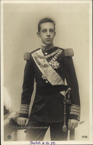 Ak König Alfons XIII. von Spanien, Portrait in Uniform, RPH 5132