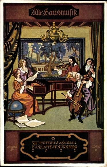 k nstler ak n rnberg viii dt s ngerbundesfest 1912. Black Bedroom Furniture Sets. Home Design Ideas