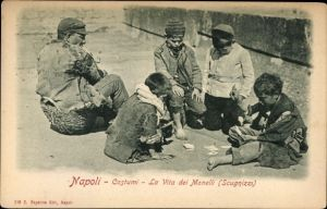 Ak Napoli Neapel Campania, Costumi, La Vita dei Monelli, Scugnizzi
