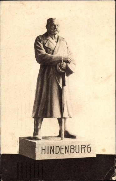 Ak Generalfeldmarschall Paul von Hindenburg, Der Eiserne Hindenburg von Berlin, Statue