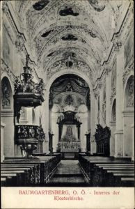 Ak Baumgartenberg in Oberösterreich, Inneres der Klosterkirche, Kanzel