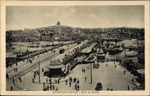 Ak Konstantinopel Istanbul Türkei, Pont de Galata