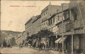 Ak Mustapha Algier Alger Algerien, Vue sur la Rue Sadi Carnot
