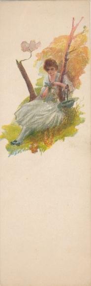 Mini Künstler Ak Terzi, Junge Frau in weißem Kleid
